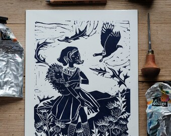 The Autumn Wind – A4 print
