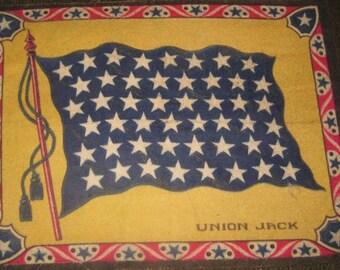 Large antique Tobacco Felt, Union Jack Flag