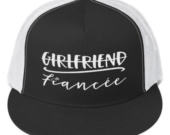 Fiancee Trucker Cap - Gift For the Bride - Embroidered Hat - Bachelorette Gift - Gift Under 20 - Bridal Shower Gift - Bachelorette Hat -