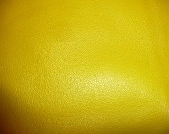 "Leather 12""x12"" Divine CANARY YELLOW top grain Cowhide 2-2.5 oz / 0.8-1 mm PeggySueAlso™ E2885-32"