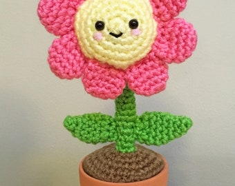 Amigurumi Flower Tutorial : Daisy pillow crochet pattern flower pillow crochet pattern