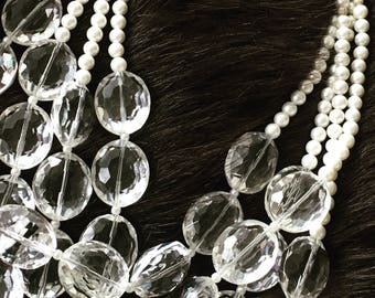 Clear Multistrand Necklace