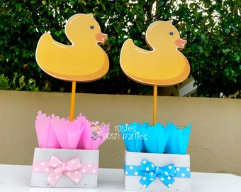 More Colors. Rubber Ducky Baby Shower Centerpiece Decoration ...