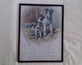 Vintage Chip Off the Old Block Pup and His Dad Picture