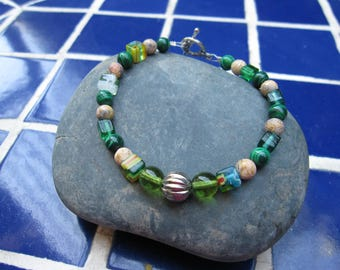 Green and Tan bracelet