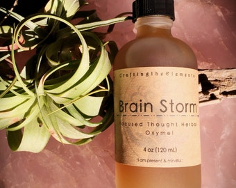 Brain Storm Oxymel, focused thought & brain function herbal supplement