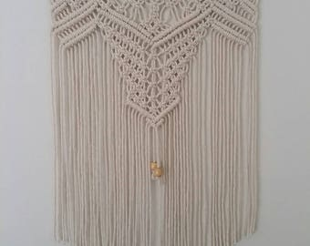 Macrame Wall Hanging, macrame wall hanger, natural cotton cord, macrame wall art, wall hanging