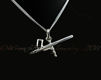 Sterling Silver 925 Airbrush Pendant c/w Chain