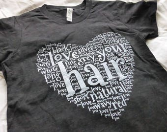NATURAL HAIR GIRL'S Relaxed Tee Positive Pro Girl Self Love Pride T-shirt