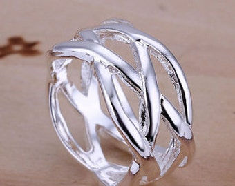 Sterling Silver Weave Ring