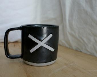 Black X mug