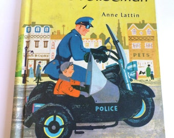 Peter's Policeman by Anne Lattin A Beginning to Read Book Follett Series 1958 Vintage Book