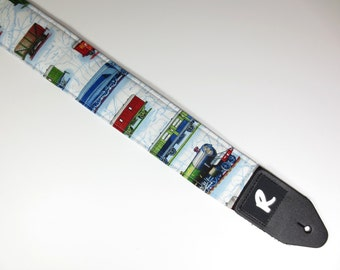 Train Guitar Strap - Locomotive - Guitar Accessories - Instrument Strap