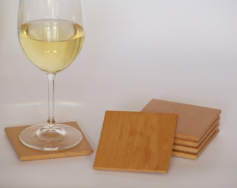 Handmade recycled timber coasters - set of 6