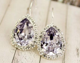 Mauve Bridal Earring Bridal Jewelry Bridal Earring Mauve Bridesmaid Jewelry Mauve Bridesmaid Earring Mauve Earring Davids Bridal Rosewood
