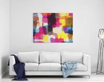 Wall Art Canvas, Wall Decor, Colorful canvas art, abstract print, 8x10 11x14 16x20 20x30 30x40 large wall art