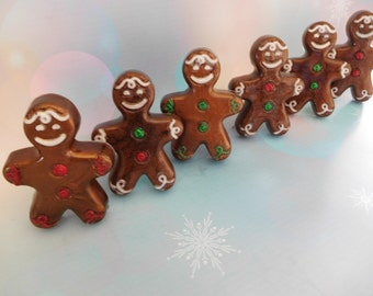 Gingerbread Man Soap - Gingerbread Soap - Ginger Soap - Christmas Soap - Stocking Stuffers - Holiday Soap - Holiday Party Favors - Gag Gifts