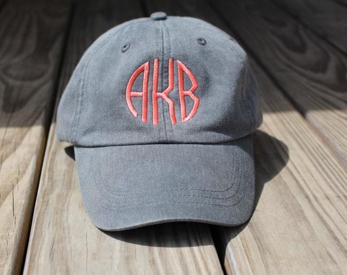 Monogrammed Hat Set of 9 Baseball Cap, Bridesmaid Gift, Groomsman Gift, Personalized, Monogrammed