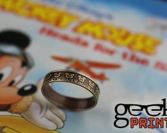 Mickey Mouse Disney Brass Token Ring