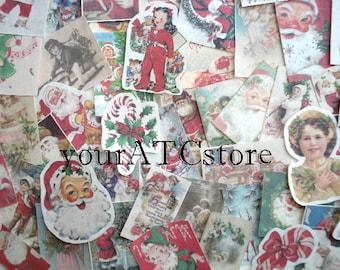 25 Vintage Christmas Ephemera Reproductions lot