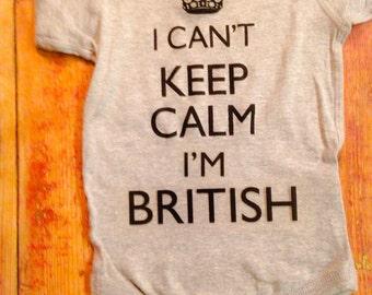 British ~Brexit~Britain Onesie®~England ~English ~Britsish Baby~Britain Baby~I cant keep calm I'm British~England