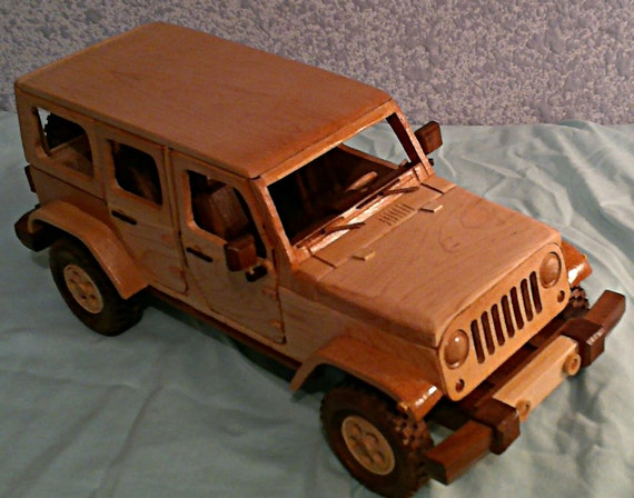 All wood hand crafted Jeep Wrangler Unlimited