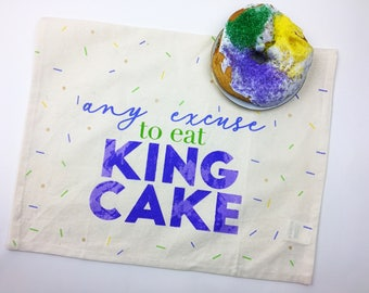 Any excuse to eat king cake - Kitchen Towels