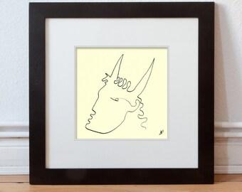 Plain Portrait Abstract 15/15 cm (5.9/5.9 inch)