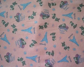 French Poodle Sweatshirt Knit Cotton Jersey Fabric