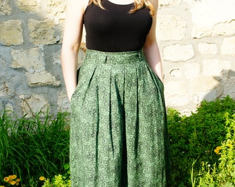 Coton midi skirt
