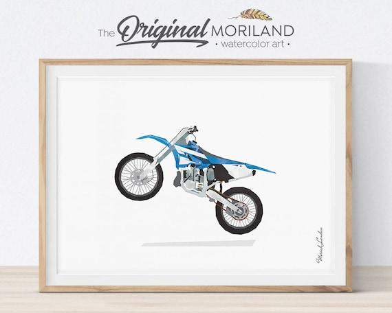 Dirt Bike Print Dirt Bike Decor Motocross Wall Art
