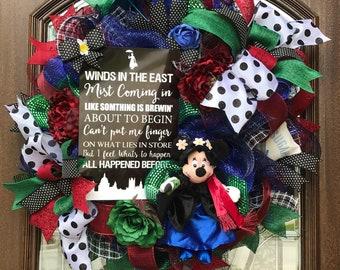Mary Poppins Wreath, Disney Wreath, Minnie Mouse Wreath
