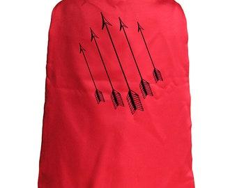 Super Hero Cape - Superhero Arrows Cape - Kids Cape Boys or Girls - Reversible Red / Blue - Super hero - great gift or present idea