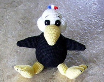 """Bonnie's Crochet  Cotton Thread Item America First Baby Eagle 2"""" Doll  not A Toy"""