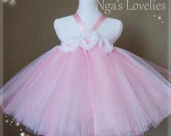 pink tutu dress- baby tutu dress- flower girl Tutu dress- flower tutu dress- pageant tutu dress- pageant dress