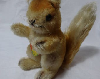 Steiff Mohair Possy Squirrel - 4 inches tall -