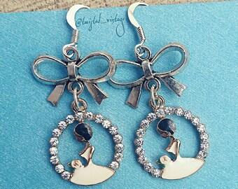 Wedding Dress Bride Bridal Shower Gift Earrings