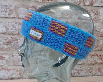 Ski Winter Eisbar Headband 80s Retro Vintage Approx.44cm x 7cm