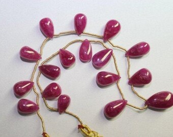 Ruby Tear Drop Shape Beads