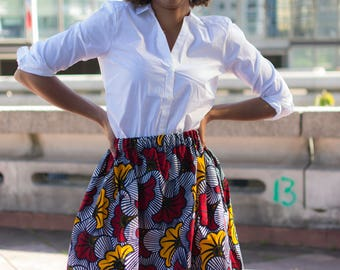 Skirt with gathers