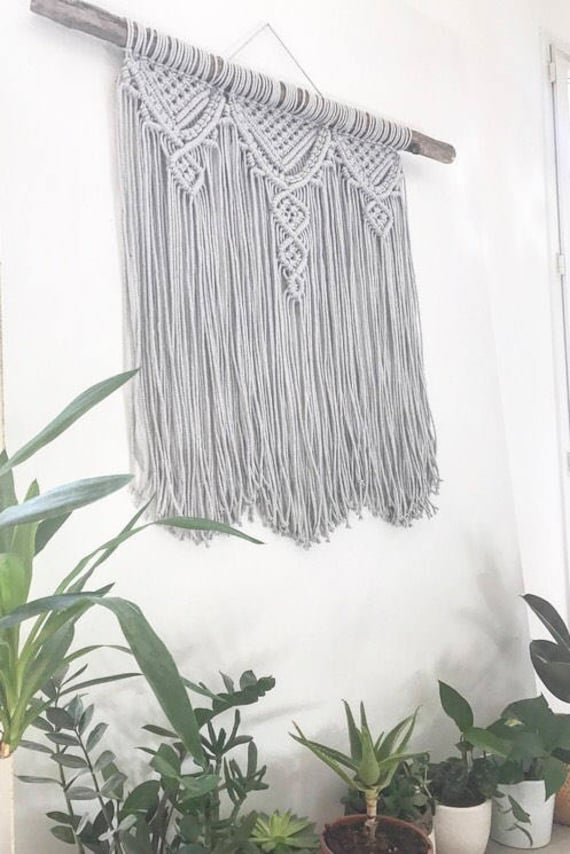 Macrame wall hanging tissage mural suspension en macram - Macrame mural ...