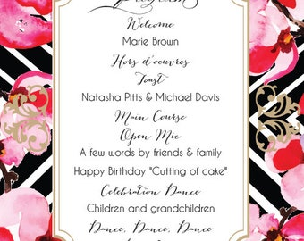 Floral Geometric Party Invitations