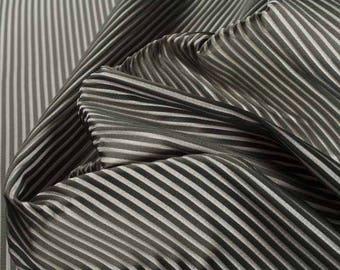 100% Silk Grey Stripe Fabric Fashion Fabric Quilting Fabric Fabric By The Meter Sewing Fabric Craft Fabric Apparel Fabric Home Decor Fabric