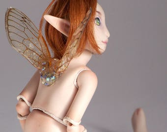 porcelain bjd fairy, 6 inch tall miniature artdoll, little minion doll by lady meow