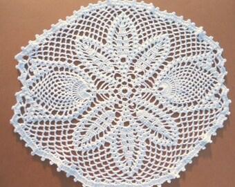 """tulip crochet doily, lace doily, white crochet doily, 11"""","""