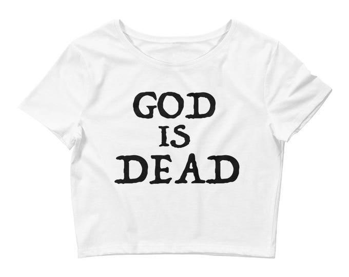 God Is Dead Crop- White