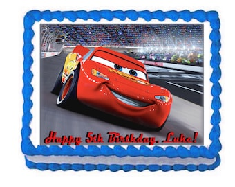 Cars party decoration edible cake image cake topper frosting sheet