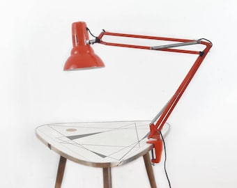 Vintage Architect Desk Lamp W3 Spezial Waso in Orange