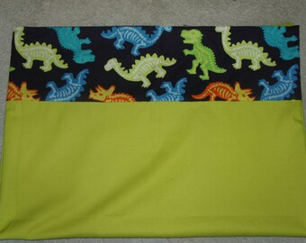 dinosaur pillowcase