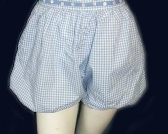 Vintage 1950s Susan Thomas Bloomer Ghingham Shorts
